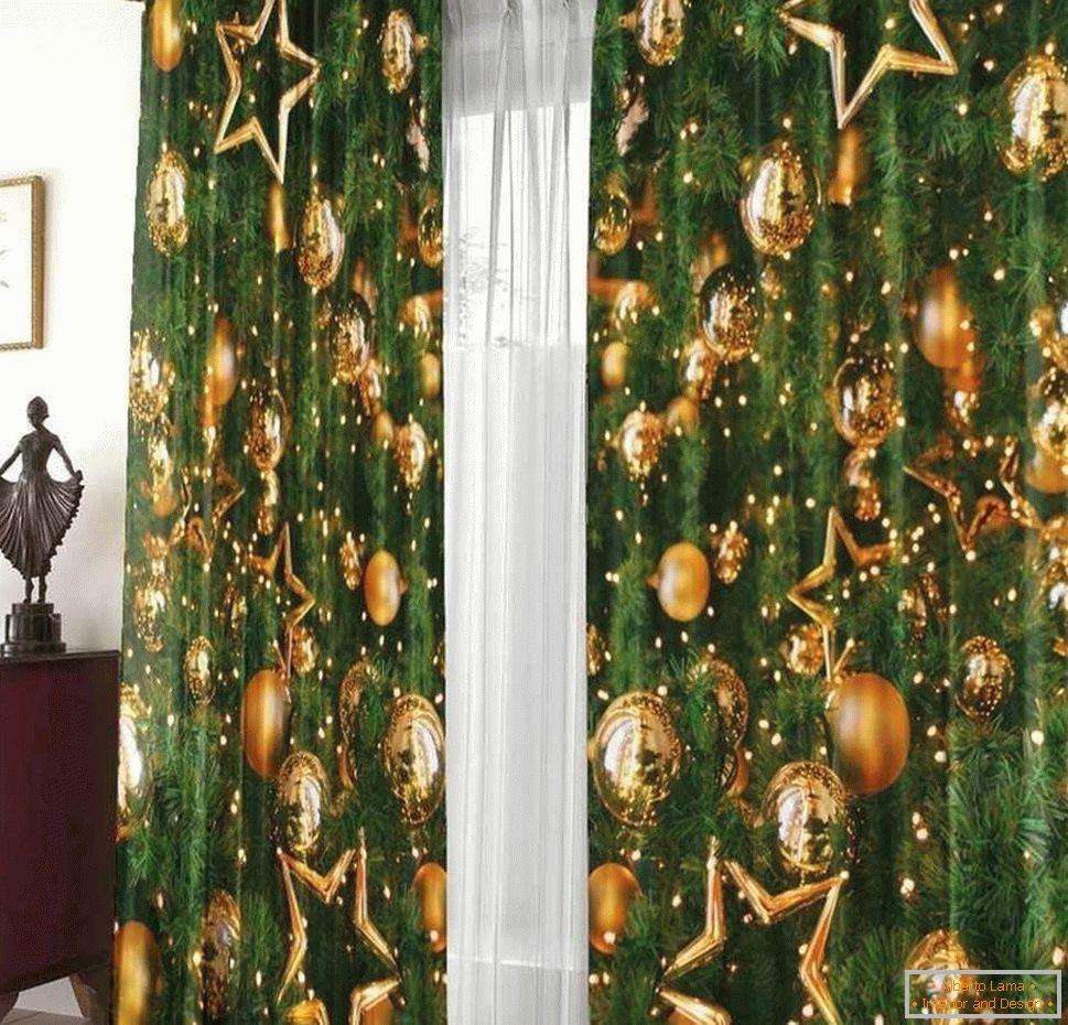 Novoročné záclony a dekorácie okien nápady 856db3f1215